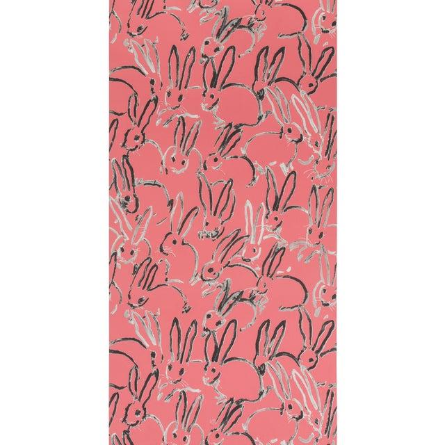 Hunt Slonem for Lee Jofa, Hutch Wallpaper Roll, Pink, 10 Yards For Sale