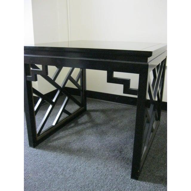 Dorothy Draper Kindel Square Trellis Lamp Table For Sale - Image 7 of 10
