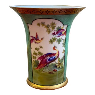 German Vase With Oriental Pheasants For Sale