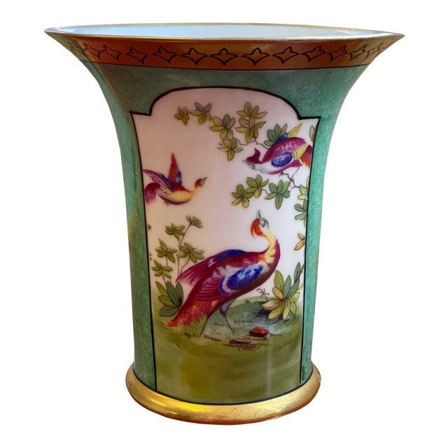 German Vase With Oriental Pheasants For Sale
