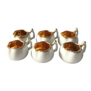 French Porcelaine De Luxe Aperitif / Espresso Cups - Set of 6 For Sale
