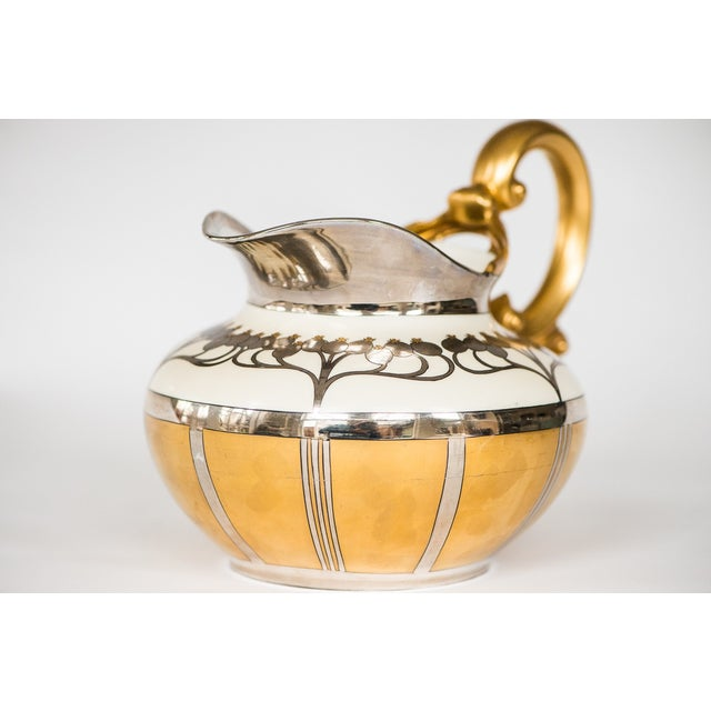 Pickard Aura Argenta Linear Signed Pitcher - Image 2 of 8
