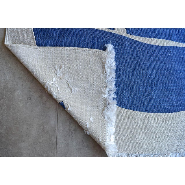 Henri Matisse - Blue Nude 3- Inspired Silk Hand Woven Area - Wall Rug 4′4″ × 6′9″ For Sale - Image 10 of 12