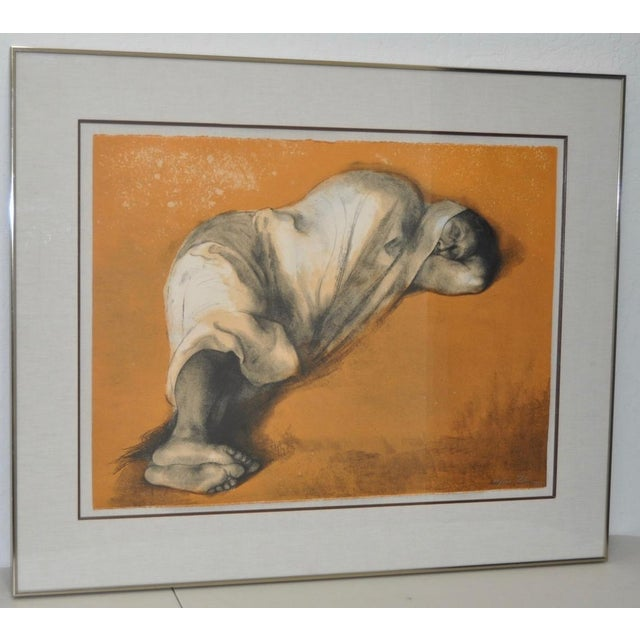 Magnificent Pencil Signed Lithograph by Costa Rican Master Francisco Zuniga (1921-1998). Works by Zuniga are instantly...