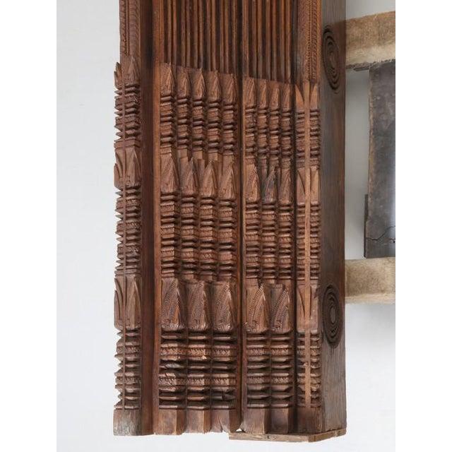 1900 - 1909 Antique Teak Carved Wood Door Frame For Sale - Image 5 of 12