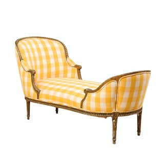 Turn of the Century French Louis XVI Style Chaise For Sale