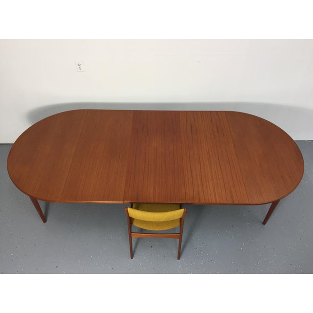 Danish Modern Solid Teak Expandable Dining Table - Image 4 of 11