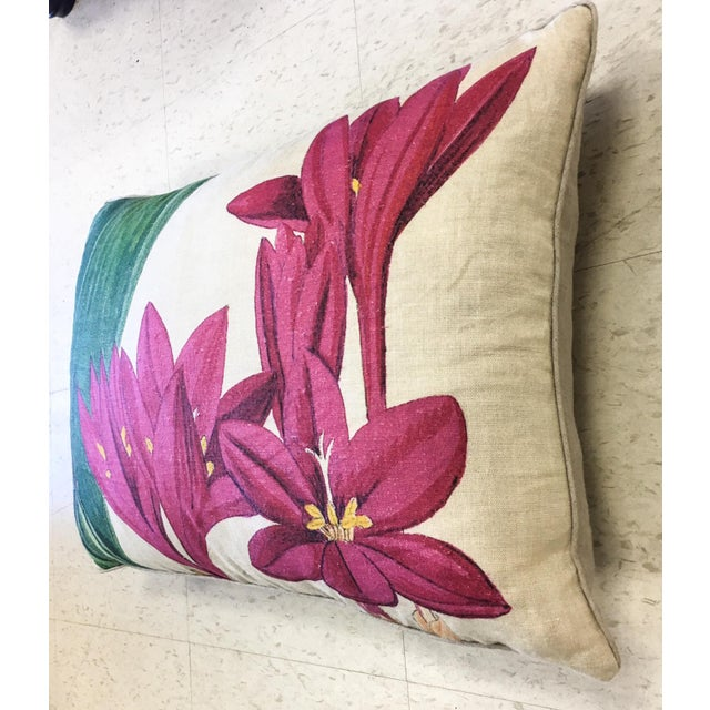 Contemporary Design Legacy Hot Pink Floral Pillow For Sale - Image 3 of 5