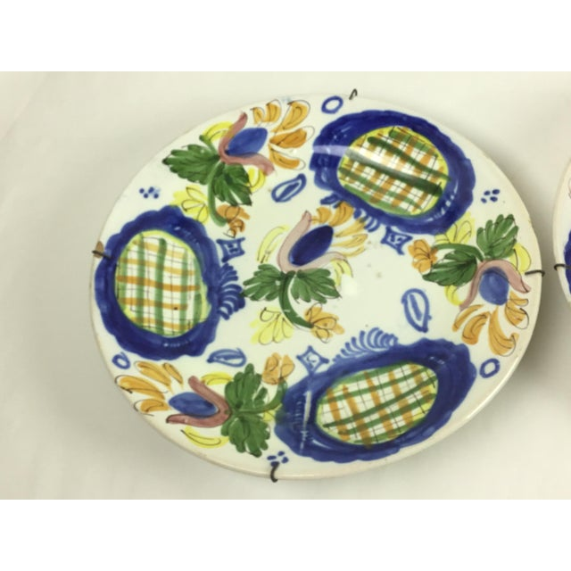 19th Century Country Dutch Gaudy Faience Plates - a Pair For Sale - Image 11 of 13