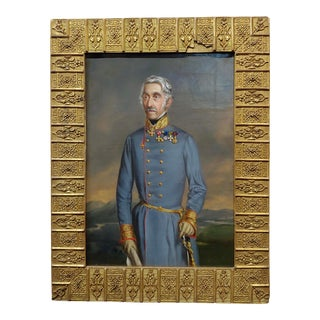 19th Century Austrian General Portrait Oil Painting For Sale