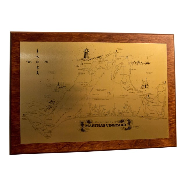 CRC & Company Martha's Vineyard Metal Photo Map For Sale