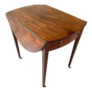 19th Century English Mahogany Pembroke Drop Leaf Table For Sale