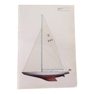 Vintage Sailboat Print For Sale