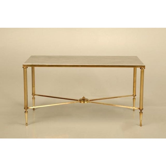 French Mid-Century Modern Brass Coffee Table For Sale - Image 10 of 10