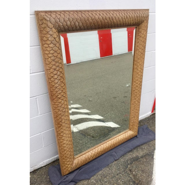 Absolutely stunningly detailed, Ash wood framed, beveled mirror that looks like it was drug up from Neptune's deep sea...