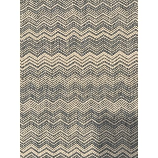 Colefax and Fowler / Jane Churchill Gable Aqua Linen Bargello Fabric 6.5 Continuous Yards For Sale
