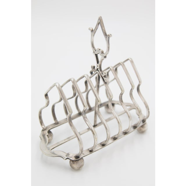 Silver Antique English Silver Plate Toast Rack For Sale - Image 8 of 8