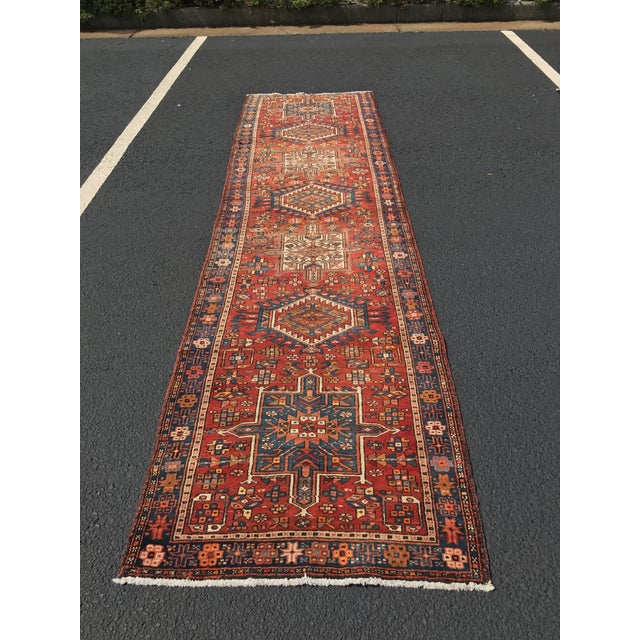 "Vintage Persian Karajeh Runner - 3'1"" x 11'6"" - Image 2 of 10"