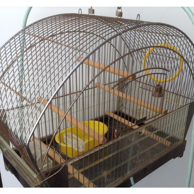 Traditional Tweety Bird Cage on Stand For Sale - Image 3 of 7