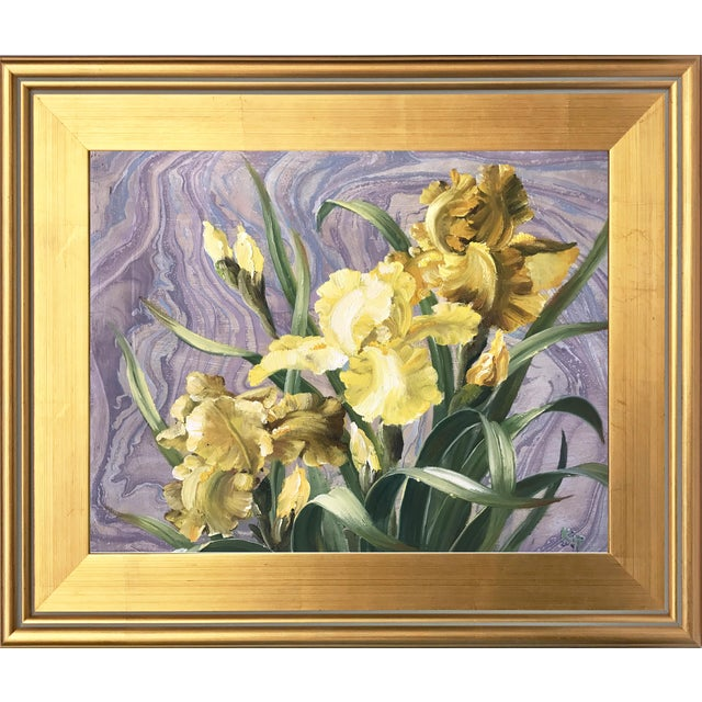 Framed Daffodils Oil Painting - Image 1 of 5