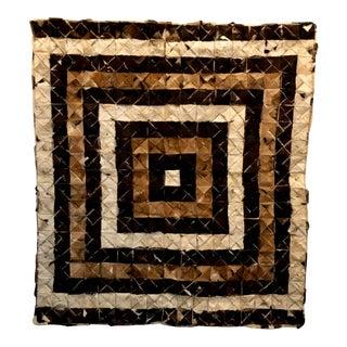 Geometric Cowhide Throw Rug For Sale