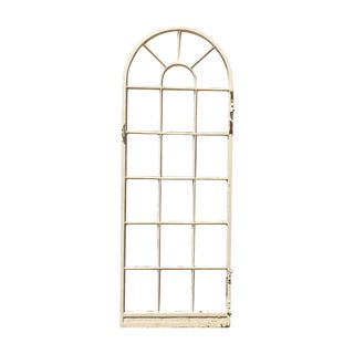 1920s Painted Steel Patio Door or Window 20 Pane Window or Door For Sale