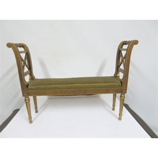 Louis XVI Gold X Carved Bench Preview