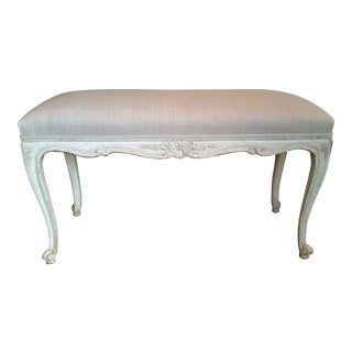 19th C Louis XV Painted Bench For Sale