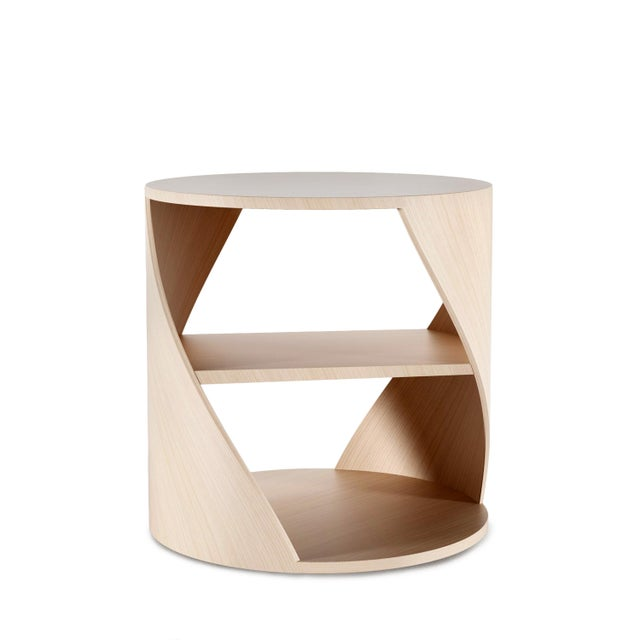 Mydna Oak Decorative Side Table by Joel Escalona For Sale - Image 9 of 9