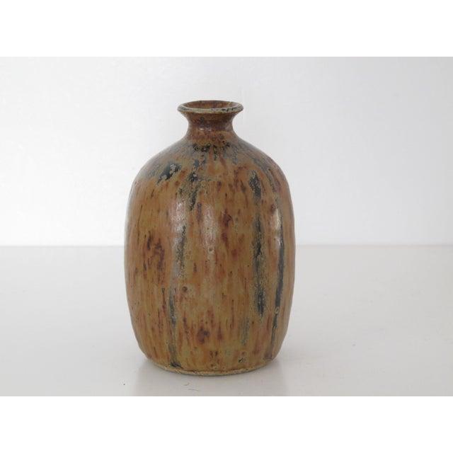 Amber Drip Glazed Ceramic Vase - Image 3 of 5