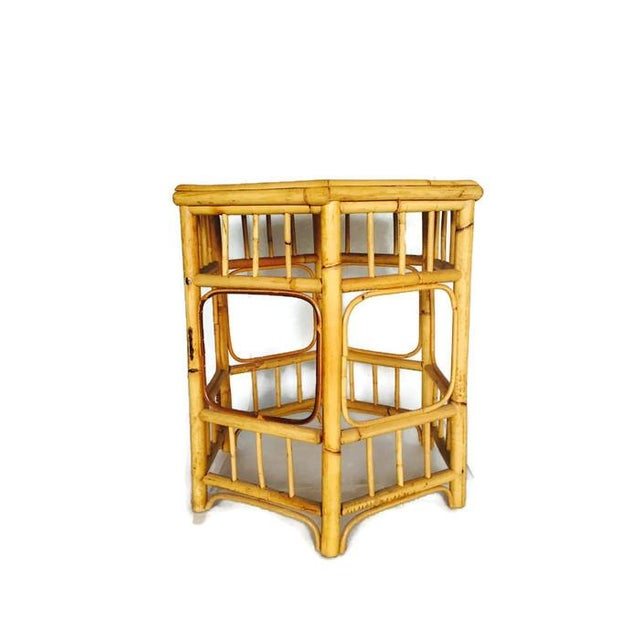 Vintage Bamboo Fretwork Side Table - Image 5 of 7