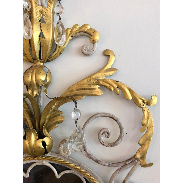 Large Pair Mid Century Italian Sconces For Sale - Image 11 of 13