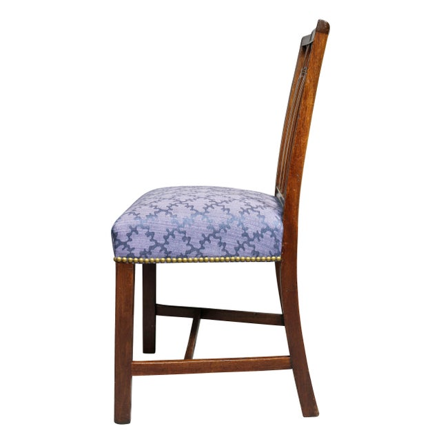 Brown Federal Mahogany Side Chairs - Set of 4 For Sale - Image 8 of 10