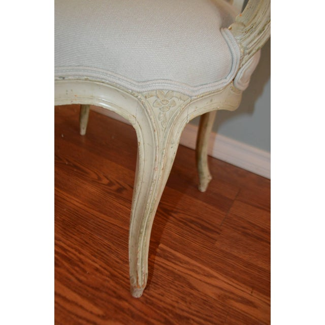 Louis XV Style Painted Armchairs - A Pair For Sale - Image 4 of 8