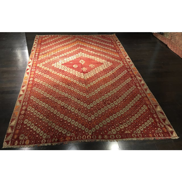 Vintage Turkish Kilim Rug - 9′3″ × 13′3″ - Image 2 of 7
