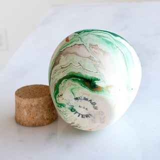 Vintage Nemadji Original Cork Lidded Vase Jar Preview