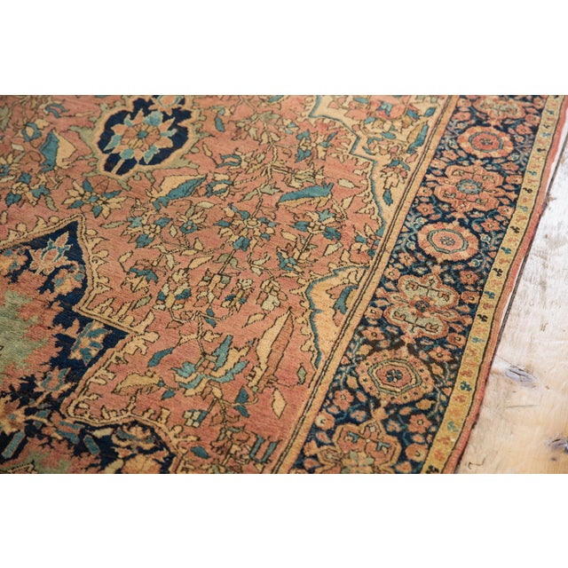"Antique Farahan Sarouk Persian Rug - 3'10"" X 6'6"" For Sale - Image 9 of 13"