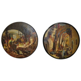 French Morocco Paintings, 1900-1920 - Pair For Sale