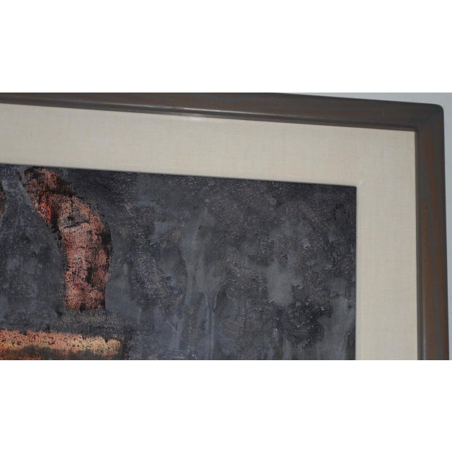 Abstract Aaron Fink (American, B.1955) Vintage Abstract Original Painting C.1986 For Sale - Image 3 of 13
