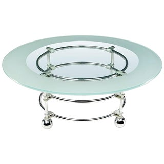 Mid-Century Modern Jay Spectre Chrome, Aluminum and Glass Coffee Table For Sale