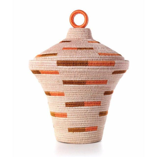Bonded Urn Blush/ochre & Papaya For Sale - Image 4 of 4