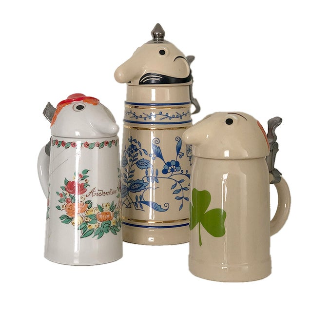 Mid 20th Century Schultz & Dooley Beer Steins - Set of 3 For Sale - Image 10 of 10