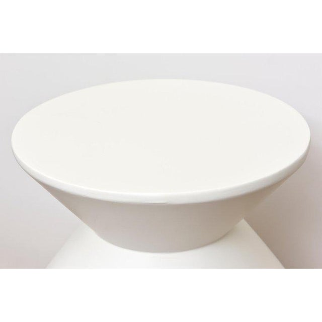 Paint Pair of Sirmos Plaster of Paris Modernist Sculptural Side Tables/Tables For Sale - Image 7 of 10