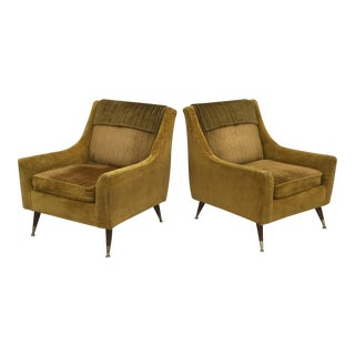 Vintage Mid-Century Modern Armchairs- A Pair