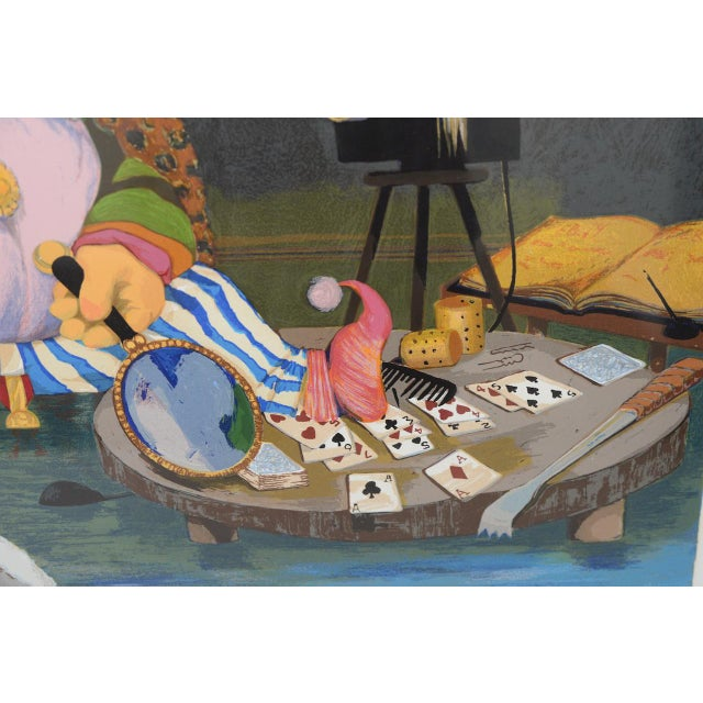 """Blue Charles Bragg """"King of Me's"""" Limited Edition Signed Serigraph For Sale - Image 8 of 11"""