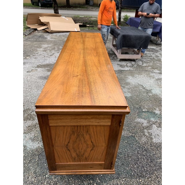 Brown 1940s French Solid Walnut Sideboard For Sale - Image 8 of 13