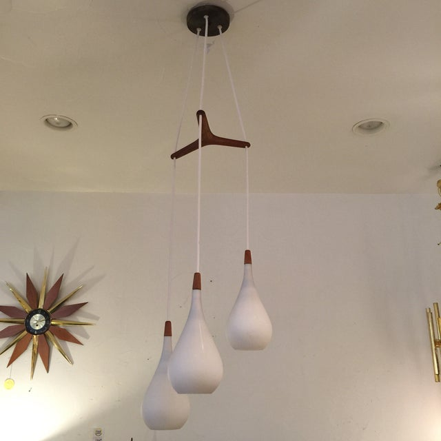 Laurel Walnut 3 Pendant Light Fixture - Image 2 of 11