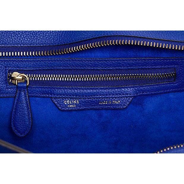 Animal Skin Celine New Indigo Micro Luggage Bag For Sale - Image 7 of 10