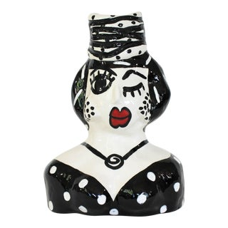 Whimsical Ceramic Vase by Jerilynn Babroff For Sale
