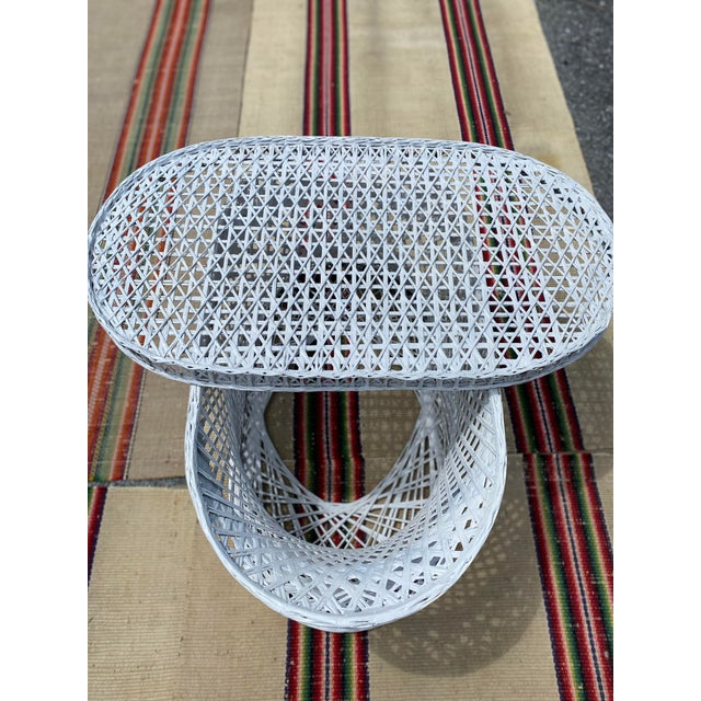 Vintage Mid-Century Russell Woodard Spun Fiberglass Oval Patio Table For Sale - Image 10 of 12